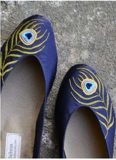 peacock slippers