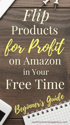 Looking for a profitable side hustle you can start in your free time? This beginner's guide will show you how to easily flip products for profit on using FBA. Make Money On Amazon, Make Money Fast, Make Money From Home, Working For Amazon, Sell On Amazon, Ways To Earn Money, Earn Money Online, Online Jobs, Sell Stuff Online