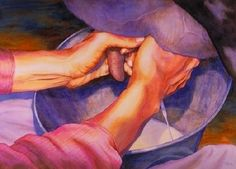 "Daily Painters Abstract Gallery: Figurative Painting of Hands ""IT TAKES RHYTHM"" by Contemporary Realism Artist Carol A. McIntyre"
