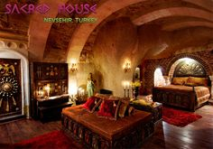 An extraordinary region in Nevsehir, Turkey; unmatched in the world. Resides a fascinating beauty, The Sacred House Hotel