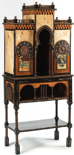 CARLO BUGATTI cabinet Bugatti, Unique Furniture, Painted Furniture, Furniture Design, Art Nouveau Furniture, Victorian Art, Art Auction, Architecture Details, Morrocan Interior