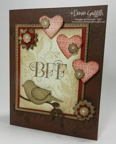 Best Friends Forever card , Stampin Up! This is for my BFF in Texas! LOVE YOU SISTER!