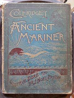 Gustave Dore Illustrated Coleridge's Ancient Mariner Antique Book, Pollard, 1887