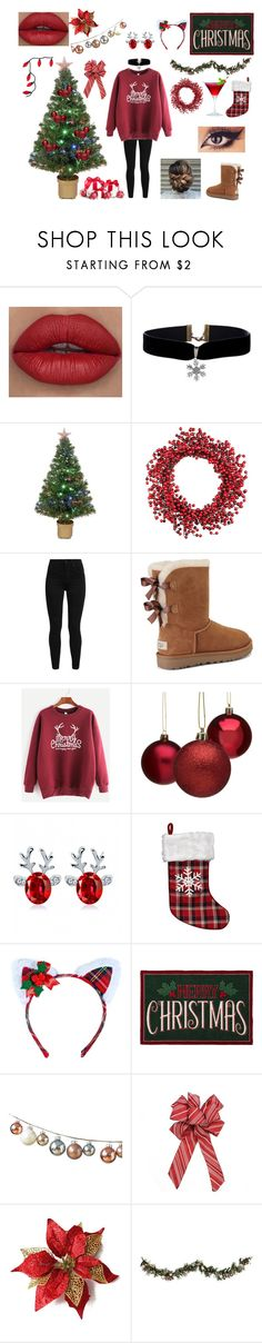 """""""Merry Christmas"""" by hailstone360 ❤ liked on Polyvore featuring Merske, Improvements, Levi's, UGG, Leg Avenue and St. Nicholas Square"""