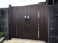 Gate Series — KunkelWorks Front Gate Design, Door Gate Design, Front Gates, Entry Gates, Tall Cabinet Storage, Locker Storage, Bamboo Light, Main Gate, Iron Doors