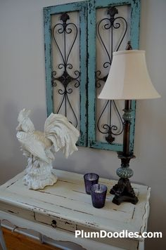 DIY:  Tricks for hanging your artwork level./not the chicken (he would have to go in another room, but the wall decor awesome for bedroom