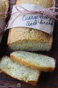 Chnage up your typical poppyseed bread with orange. Make one, freeze one and give one. Orange Poppy Seed Bread