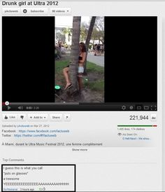 You will laugh. Funny Youtube Comments, Best Comments, I Love To Laugh, Make You Smile, Funny Memes, Hilarious, Jokes, Drunk Girls, Dump A Day