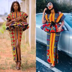 2019 Design Pictures Of Latest African Ankara Dresses For Beautiful Ladies:The Most Gorgeous & Lovely Designs To Slay For These Week - Owambe styles African Fashion Ankara, Latest African Fashion Dresses, African Print Fashion, African Wear, African Attire, African Prints, African Outfits, African Clothes, Ankara Dress Styles