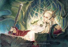 """Adas by millenraven.deviantart.com on @deviantART - Thranduil and a little Legolas, from """"The Hobbit"""""""