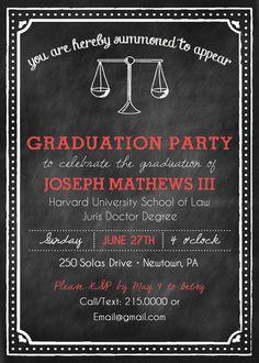 Law School Graduation Invites Law School Graduation Invitation