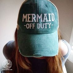 cc90affa8496a JordanLanai Because even Mermaids need their time off. So wear your Mermaid  Off Duty Hat Don t miss out on the Classic trucker distressed cap.