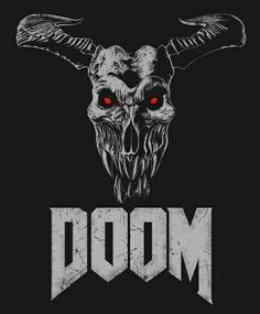 Doom - Icon Of Sin Couch Throw Pillow by Remus Brailoiu - Cover x with pillow insert - Indoor Pillow Doom 4, Doom Game, Doom Demons, Doom 2016, Slayer Meme, Imagenes My Little Pony, Video X, Video Game Art, Skull Art