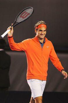 Roger Federer (RF & Friends exhibition, Melbourne, 2014)