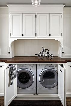 Dressed up Laundry, in the Hall - Fine Homebuilding Article