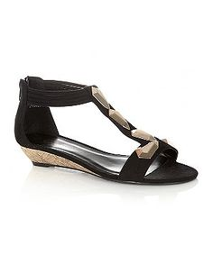 ca01c9a97a4 Keep it sophisticated when the sun comes out with these wear with  everything low wedge sandals