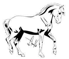 Horse Outline -- Four by Anaeo-vale on DeviantArt Outline Drawings, Horse Drawings, Adult Coloring Pages, Coloring Books, Horse Outline, Horse Sketch, Morgan Horse, Running Horses, Horse Love
