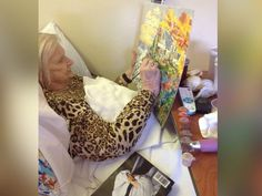83-Year-Old Grandma Creates Beautiful Paintings From Her Hospital Bed Spirited Art, Beautiful Paintings, Hospital Bed, Home And Garden, Relationships, Relationship