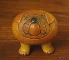 Bulldog (from the Kennel series) designed by Swedish ceramic designer Lisa Larson for Gustavsberg, Sweden