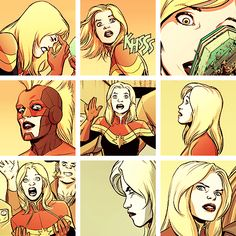 """""""My name is Captain Marvel. I am an earthling and an Avenger. But today I stand as one of the settlers of Torfa, who claim this planet and its resources as they were freely given in the aftermath of the behemoth disaster. They are peaceful people, but I am a woman of war. If you move against them, you move against me. I am willing to die here today, for this cause. I have made my choice… Now you make yours."""""""