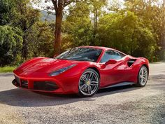 The Ferrari 488 GTB was unveiled at the 2015 Geneva Motor show and is currently in production. The car is an update for the Ferrari 458 with the 488 sharing some of the design an components. Ferrari 488, Ferrari 2017, Sexy Cars, Hot Cars, Porsche Classic, Classic Cars, Maserati, Supercars, Automobile