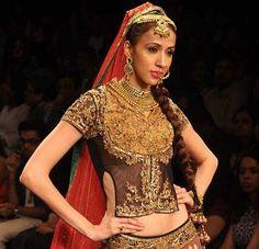 10 Best Blouse designs for Indian bridal Lehenga http://blushingindianbride.com/10-best-blouse-designs-for-indian-bridal-lehenga/