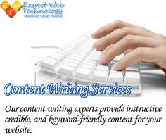Our content writing experts provide instructive credible, and keyword-friendly content for your website. http://bit.ly/1BwHRe9