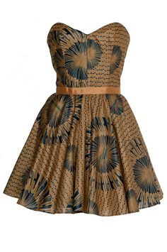 African print Gold and Navy tribal dress by Style Icon's Closet 50s style Vintage Inspired Pin-Up African Print Retro Rockabilly Clothing