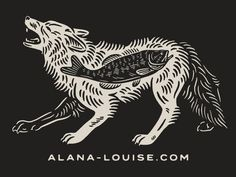 New Website, New Coyote louise alana wolf fish bass - My Recommendations Arte Horror, Drawing S, Hippy, Moose Art, Wolf, Advertising Design, Behance, Graphic Design, Design Design