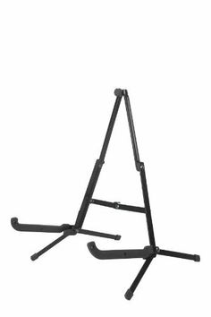 Guardian Folding Guitar Stand (A-Shape, Black) by Guardian Cases. $12.99. Isn't it time you stopped leaning that beautiful axe against your amp? Avoid toppling-guitar syndrome with a new guitar stand.    This particular stand folds up to an ultra portable 7.75 inches. That's short enough to throw in your case while in transit.    When in use, the stand folds out to an A-Shape, which conveniently fits almost any guitar, acoustic or electric.     What's in the Box  Guar...