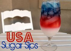 An American Backporch BBQ with awesome red,  white, and blue drinks!