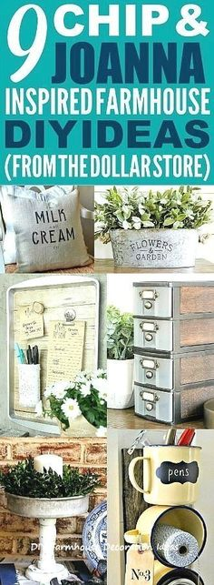 These dollar store farmhouse decor ideas are really good! I'm happy I found these cute fixer upper kitchen and home decor ideas! Now I have some great ways to make my home look like Chip and Joanna Gaines' farmhouse style! Farmhouse Office, Country Farmhouse Decor, Farmhouse Style Kitchen, Farmhouse Style Decorating, Farmhouse Design, Modern Farmhouse, Farmhouse Ideas, Farmhouse Lighting, Kitchen Country