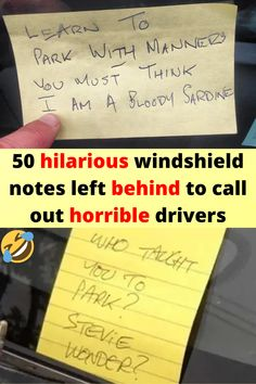 50 hilarious windshield notes left behind to call out horrible drivers