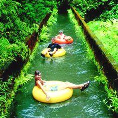 Inner tubing in Hawaiian sugar plantation. On my todo list for Hawaii this summer!