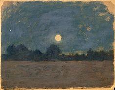 OdilonRedon (Fr. 1840-1916),Nocturne, huile surcarton, 18 x 23,4cm,Paris, musée d'Orsay