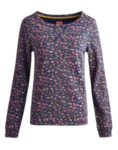 Joules null Womens Relaxed Sweatshirt, Navy Ditsy.                     This relaxed shape sweatshirt is just the thing to slip on after a busy week