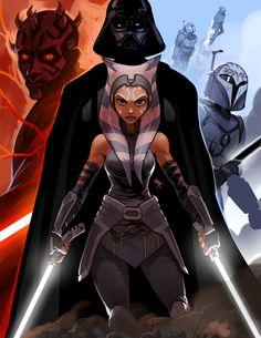 Star Wars Clone Wars, Star Wars Darth, Darth Vader, Darth Maul Comic, Star Wars Pictures, Star Wars Images, Star Wars Fan Art, Star Wars Stencil, Ashoka Star Wars