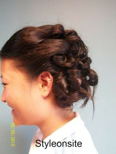 curled updo, prom, special event, wedding hair, bride, bridesmaid