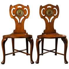 d4f974bdab235 Pair of George III Hall Chairs