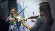 Jam session with and at Daniela was playing the Equinox and Pauline the Line electric violin. Namm Show, Electric Violin, Play, Instagram, Violin