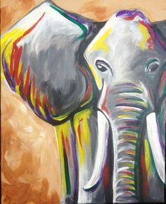 Browse our upcoming painting classes and events at Woodlands Pinot's Palette! Reserve your seat for the best paint and sip experience today! Easy Paintings, Animal Paintings, Diy Painting, Painting & Drawing, Beginner Painting, Paint And Drink, Elephant Art, Graphic, Painting Inspiration