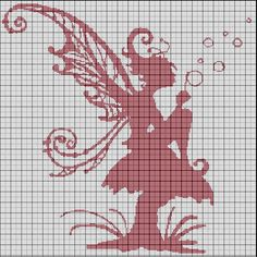 Fairy silhouette sitting on a toadstool cross stitch pattern Cross Stitch Fairy, Cross Stitch Angels, Beaded Cross Stitch, Crochet Cross, Filet Crochet, Crochet Chart, Cross Stitch Charts, Cross Stitch Designs, Cross Stitch Embroidery