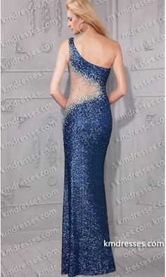 Awe-inspiring sheer inseted asymmetric one shoulder formal sequin gown.prom dresses,formal dresses,ball gown,homecoming dresses,party dress,evening dresses,sequin dresses,cocktail dresses,graduation dresses,formal gowns,prom gown,evening gown.