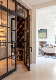 Great door for wine room. Picture from www.houzz.com