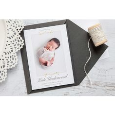 """Timeless, simply Baby Announcement in """"Simply Splendid: Adornments"""" by Polished by Design Newborn Birth Announcements, Baby Announcement Cards, Bassinet, Design, Crib, Cots, Design Comics, Birth Announcement Cards, Infant Bed"""