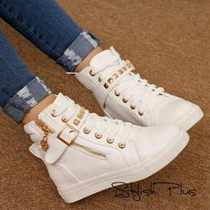 7 Spiritual Clever Hacks: Casual Shoes For Women shoes boots combat.Casual Shoes For Women. White Shoes, White Sneakers, High Top Sneakers, High Heels, Shoes Sneakers, Women's Shoes, Adidas Shoes, Jeans Shoes, Girls Shoes