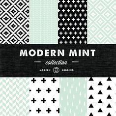 Hey, I found this really awesome Etsy listing at https://www.etsy.com/listing/194341446/modern-mint-crib-bedding-set-custom-crib