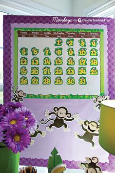 Jungle Calendar Chart, Monkeys Calendar Days, and Monkeys Cut-Outs. For more great classroom ideas, check out our new blog inspiredinstyle.com My moms loves Monkeys! And I mean LOVES!