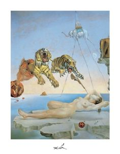 Dream Caused by The Flight of a Bee a Second Before Awakening Art Painting for sale. Shop your favorite Salvador Dali Dream Caused by The Flight of a Bee a Second Before Awakening Art Painting without breaking your banks. Salvador Dali Oeuvre, Salvador Dali Kunst, Salvador Dali Paintings, Städel Museum, Max Ernst, Photo D Art, Poster Prints, Art Prints, Poster Poster