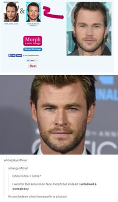 Actually it equals Chris times Chris equals Chris squared.Chris Pratt + Chris Evans = Chris Hemsworth MIND BLOWN<<<<dude my head's spinning don't bring math to marvel Funny Marvel Memes, Marvel Jokes, Dc Memes, Funny Memes, Hilarious, Thor Meme, Avengers Memes, It's Funny, Marvel Dc